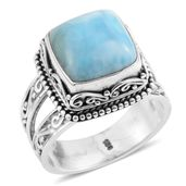 Bali Legacy Collection Larimar Sterling Silver Ring (Size 9.0) TGW 7.850 cts.