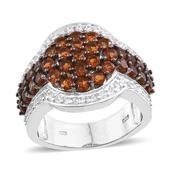 Santa Ana Madeira Citrine, White Topaz Platinum Over Sterling Silver Ring (Size 9.0) TGW 4.450 cts.