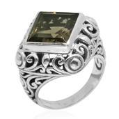Bali Legacy Collection Brazilian Smoky Quartz Sterling Silver Ring (Size 10.0) TGW 7.830 cts.