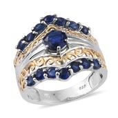 Himalayan Kyanite 14K YG and Platinum Over Sterling Silver Ring (Size 6.0) TGW 3.150 cts.