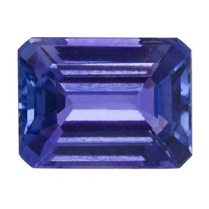 IGI Certified Tanzanite Faceted (Oct 3A 7.87x5.93) TGW 1.75 cts.