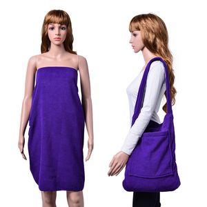 2 in 1 Purple Beach Towel Or Shoulder Bag (60x30 in)