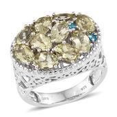 Canary Apatite, Malgache Neon Apatite Platinum Over Sterling Silver Ring (Size 7.0) TGW 4.900 cts.