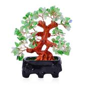 Green Glass, Chroma Decorative Tree (4.5 in)