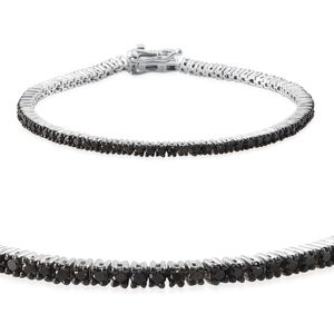 Black Diamond (IR) Platinum Over Sterling Silver Bracelet (7.25 In) TDiaWt 2.95 cts, TGW 2.95 cts.
