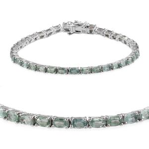 Green Kyanite Platinum Over Sterling Silver Bracelet (7.50 In) TGW 11.600 cts.