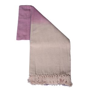 100% Cotton Pink Ombre Throw Blanket (50x60 in)