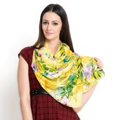 J Francis - Yellow and Green 100% Natural Bamboo Fabric Scarf (80x30 in)