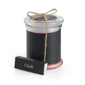 Customizable Chalkboard Scented Candle with Chalk Set Avg Burn Time 38 hours (Pumpkin)