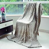 Leopard Print 100% Polyester Flannel Throws (59x79 in)