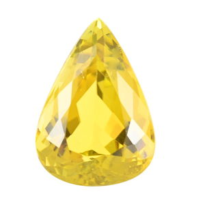 IGI Certified Natural Canary Tourmaline Faceted (Pear 4A 15.87x11.23) TGW 7.60 Cts.