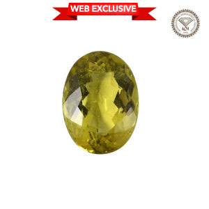IGI Certified Natural Canary Tourmaline Faceted (Ovl 4A 13.29x9.82) TGW 5.80 Cts.