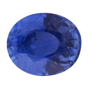 IGI Certified Blue Sapphire Faceted (Ovl 4A 7.8x6.5) TGW 2.09 Cts.