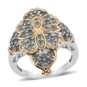 Narsipatnam Alexandrite 14K YG and Platinum Over Sterling Silver Ring (Size 9.0) TGW 2.20 cts.