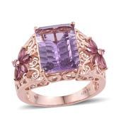 Jewel Studio by Shweta Bahia Amethyst, Orissa Rhodolite Garnet 14K RG Over Sterling Silver Ring (Size 6.0) TGW 7.550 cts.