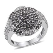 Bekily Color Change Garnet, White Zircon Platinum Over Sterling Silver Ring (Size 5.0) TGW 2.20 cts.