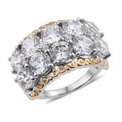 J Francis - 14K YG and Platinum Over Sterling Silver Ring Made with SWAROVSKI ZIRCONIA (Size 5.0) TGW 14.950 cts.