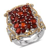 Jalisco Fire Opal 14K YG and Platinum Over Sterling Silver Ring (Size 8.0) TGW 3.450 cts.
