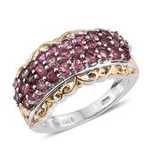 Pink Tourmaline 14K YG and Platinum Over Sterling Silver Ring (Size 5.0) TGW 2.360 cts.
