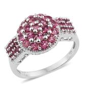 Pink Tourmaline Platinum Over Sterling Silver Ring (Size 9.0) TGW 1.690 cts.