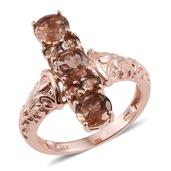 Jenipapo Andalusite 14K RG Over Sterling Silver Ring (Size 9.0) TGW 2.950 cts.
