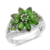 Russian Diopside Sterling Silver Ring (Size 8.0) TGW 3.210 cts.