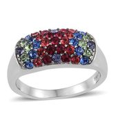 Stainless Steel Ring (Size 7.0) Made with SWAROVSKI Multi Color Crystal TGW 1.170 cts.