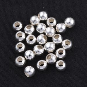 LC DIY Silvertone Seed Beads Set of 100 (6x5 mm)