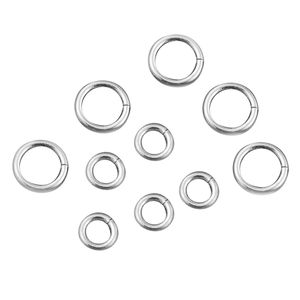 Gem Workshop Set of 200 Silvertone Jump Rings