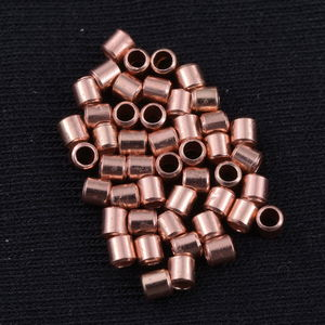 Gem Workshop Rosetone Crimp Tubes Set of 400 (Approx 2x2 mm)