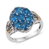 Malgache Neon Apatite 14K YG and Platinum Over Sterling Silver Ring (Size 9.0) TGW 2.82 cts.