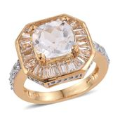 XIA Kunzite, White Topaz 14K YG Over Sterling Silver Ring (Size 7.0) TGW 7.130 cts.