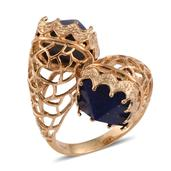 Jewel Studio by Shweta Lapis Lazuli 14K YG Over Sterling Silver Ring (Size 11.0) TGW 16.350 cts.