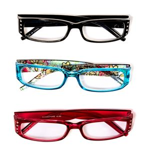Floral Print and Rhinestone Reading Glasses 1.5 Diopter - 3 Pairs