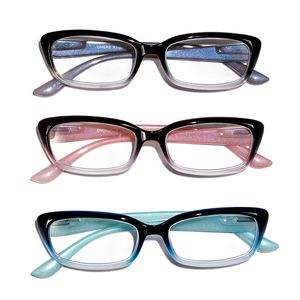 Multi Color Ombre Reading Glasses 1.5 Diopter - 3 Pairs