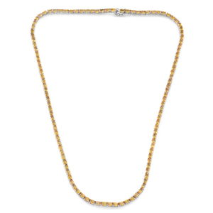 Dec 17 TLV Yellow Sapphire Sterling Silver Necklace (20 in) Total Gem Stone Weight 21.580 Carat