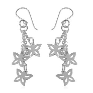 Sterling Silver Butterfly Dangle Earrings (4.2 g)