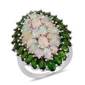 Ethiopian Welo Opal, Russian Diopside Sterling Silver Ring (Size 10.0) TGW 10.260 cts.