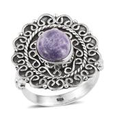Artisan Crafted Utah Tiffany Stone Sterling Silver Ring (Size 7.0) TGW 2.95 cts.
