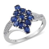 Himalayan Kyanite, White Topaz Platinum Over Sterling Silver Ring (Size 6.0) TGW 2.930 cts.