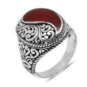 Bali Legacy Collection Sponge Coral Sterling Silver Ring (Size 11.0) TGW 12.000 cts.