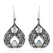 Artisan Crafted Ethiopian Welo Opal Sterling Silver Earrings TGW 1.280 Cts.