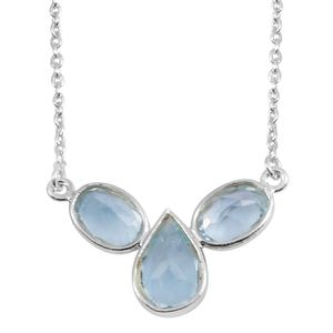 Sky Blue Topaz Sterling Silver Necklace (18 in) TGW 3.11 cts.
