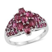 Mahenge Rose Spinel Platinum Over Sterling Silver Ring (Size 7.0) TGW 2.86 cts.