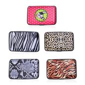 Set of 5-Animal Print RFID Blocking Card Holder (4x2.5 in)
