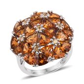 Santa Ana Madeira Citrine, Brazilian Citrine Platinum Over Sterling Silver Ring (Size 6.0) TGW 10.26 cts.