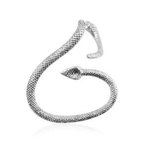 Silvertone Snake Ear Cuff
