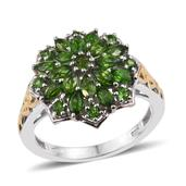 Russian Diopside 14K YG and Platinum Over Sterling Silver Ring (Size 8.0) TGW 2.260 cts.