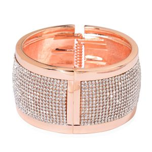 Austrian Crystal Rosetone Bangle (7.50 in)