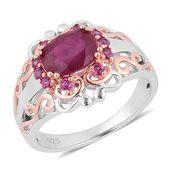 Niassa Ruby, Orissa Rhodolite Garnet 14K YG Over and Sterling Silver Ring (Size 9.0) TGW 3.100 cts.